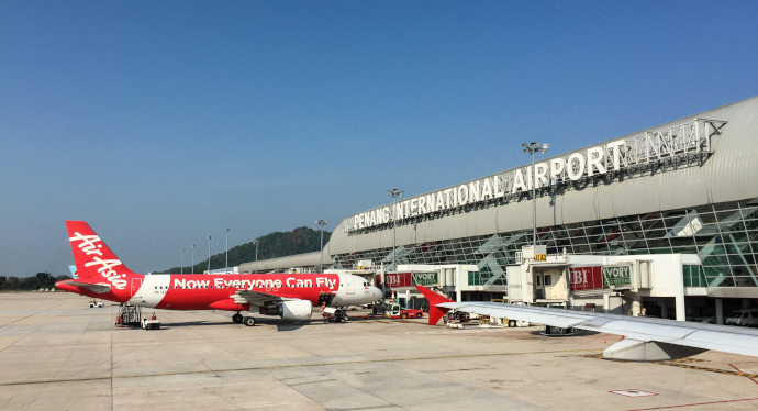Penang International Airport is the main airport serving Greater Penang area.